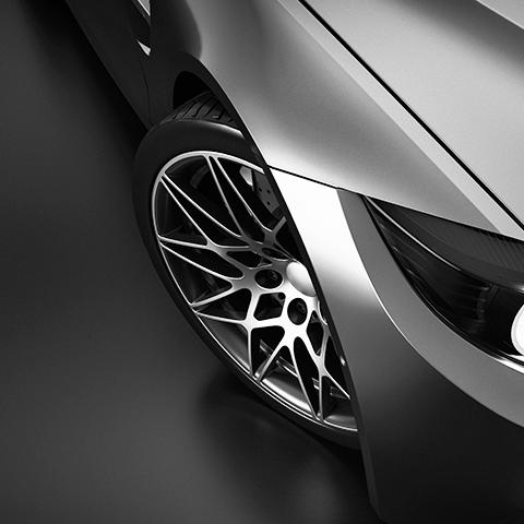 close up of luxury car
