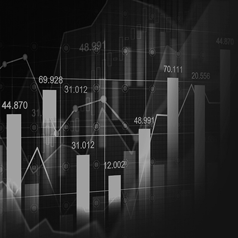 closeup of stock chart